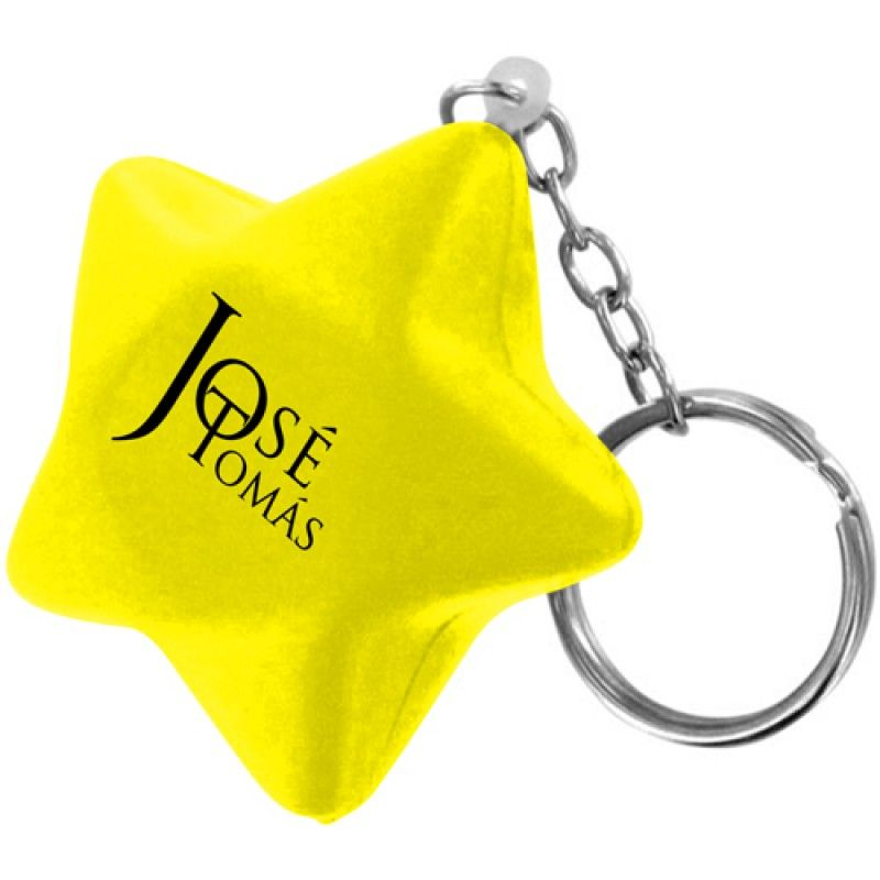 Wholesale Star Stress Ball Key Chain