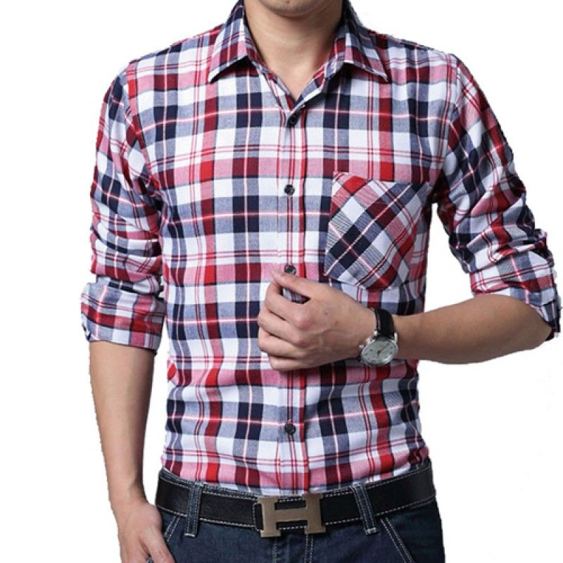 Wholesale Big Size Men Lattice Shirt