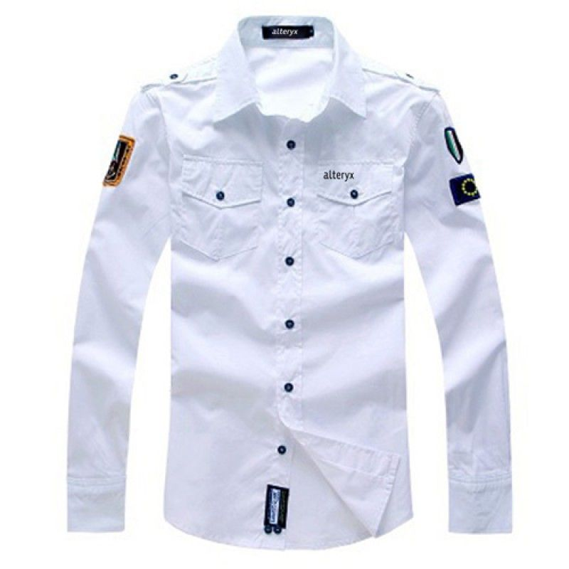 Wholesale Army Military Men Casual Cotton Shirt