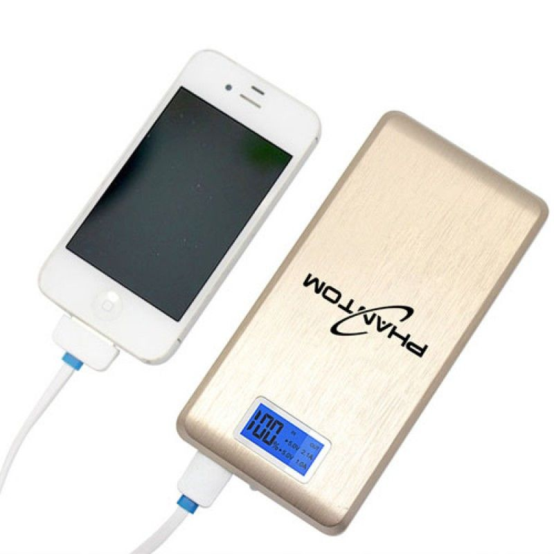 Wholesale 15000mAh Dual USB LCD Power Bank