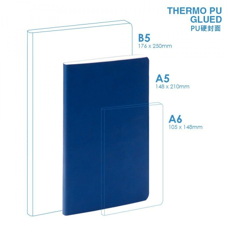 Wholesale PU A5 Soft Cover (glued) Notebook