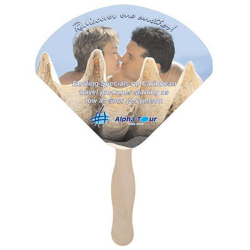 Wholesale Seashell Shaped Fan-[CP-28018]