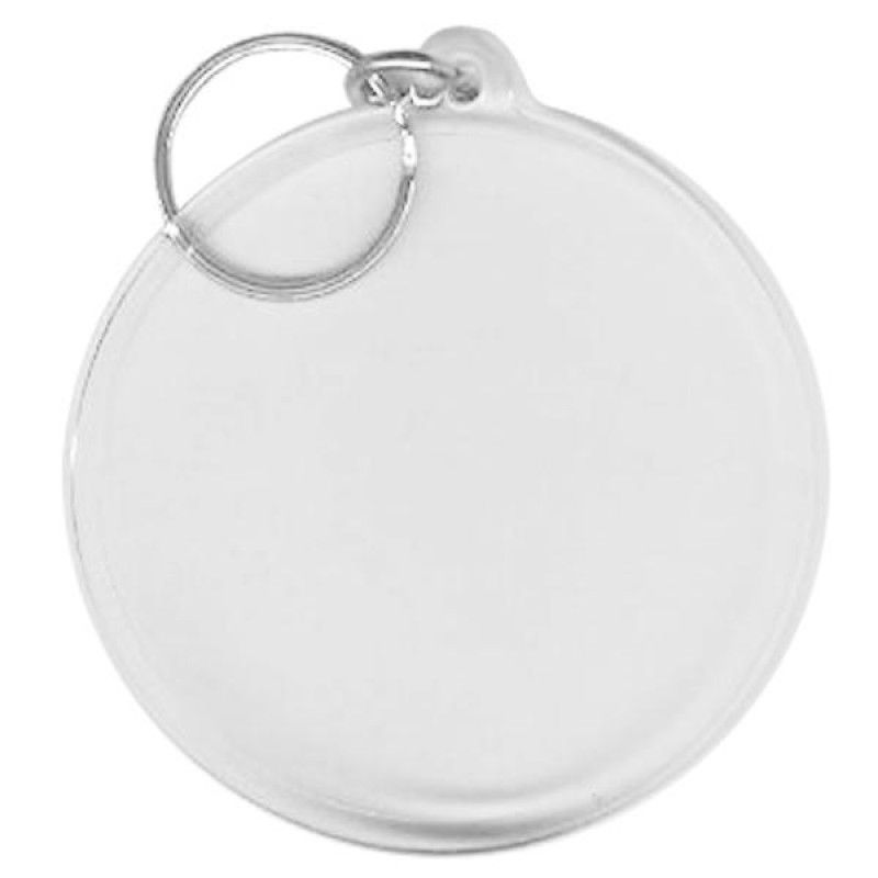Wholesale BLANK - Snap-In Large Round Flat Key Tag-[BW-27076]