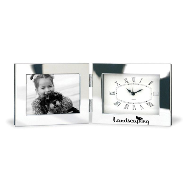 Wholesale Fold-Up Desk Clock With Photo Frame