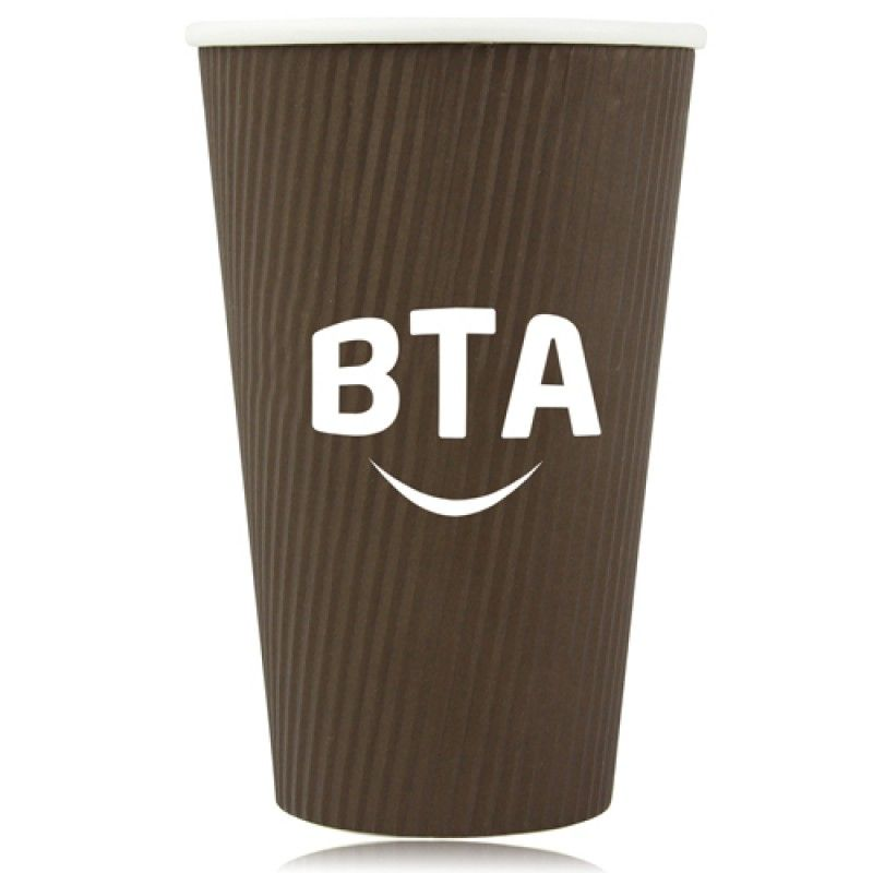 Wholesale 16 OZ Corrugated Disposable Cup