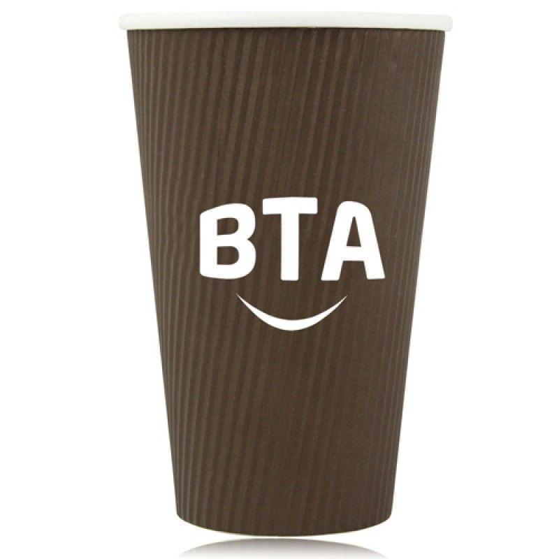 Wholesale 16 OZ Corrugated Disposable Cup