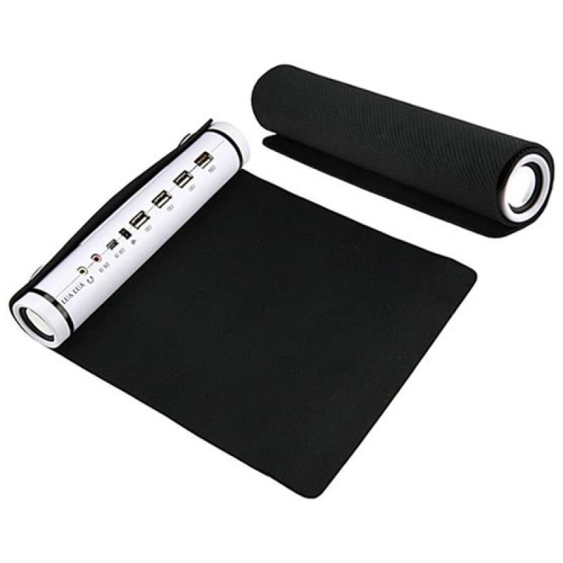 Wholesale Roll-Up Mouse Pad with USB Hub