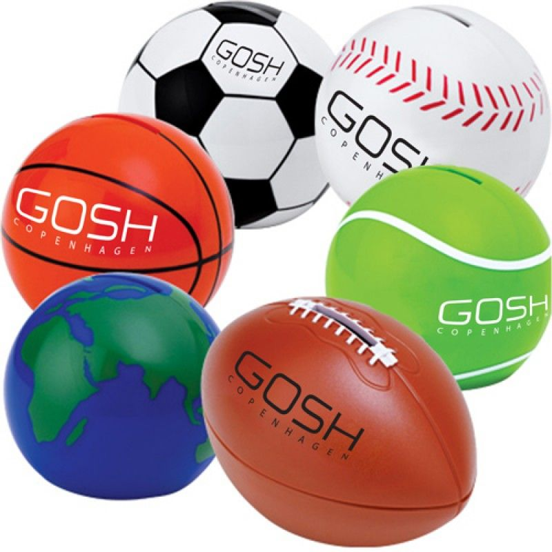 Wholesale Sport Ball Shaped Coin Bank