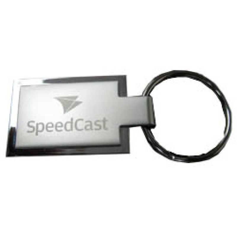 Wholesale 2 sided metal keyring