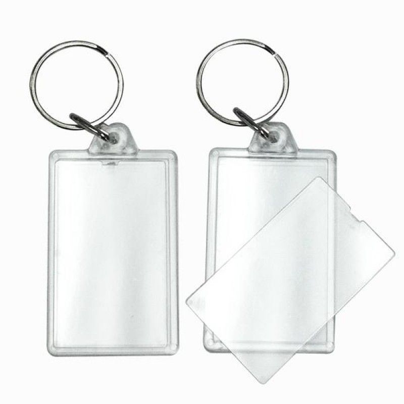 Wholesale BLANK - Snap-In Rectangle Flat Key Tag-[BW-27067]