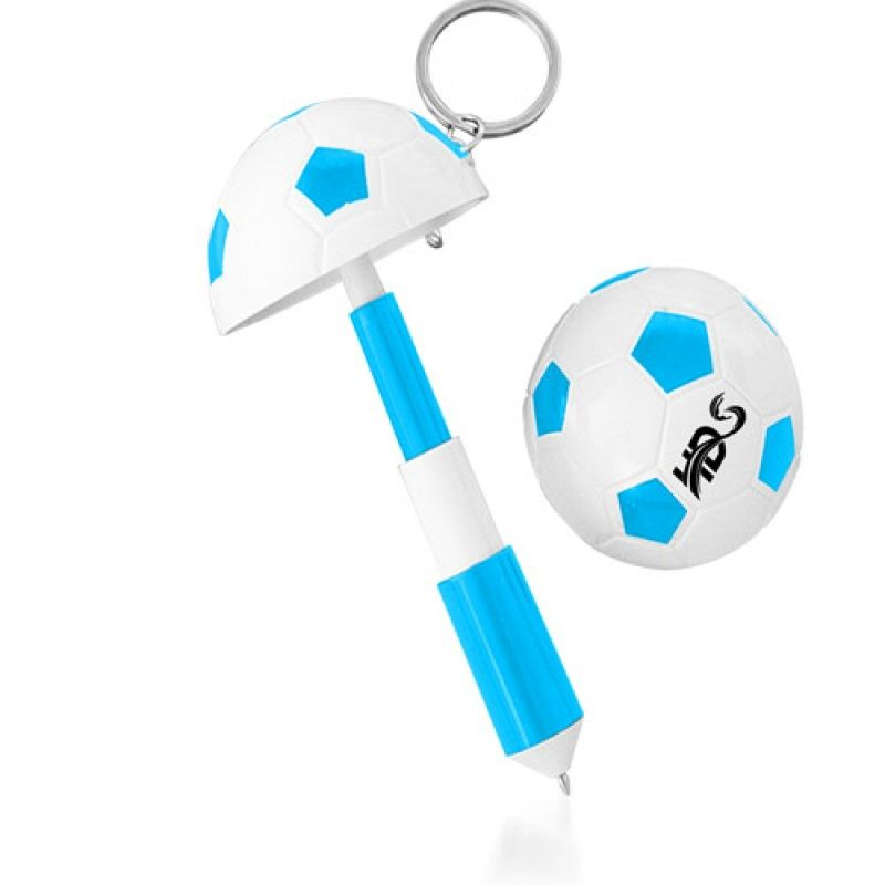 Wholesale Football Shaped Keychain With Mini Pen