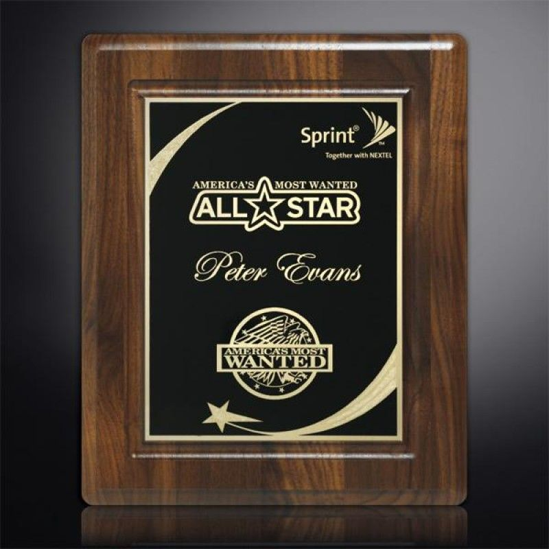 Wholesale Akron Walnut Grooved Plaque-[CD-28022]