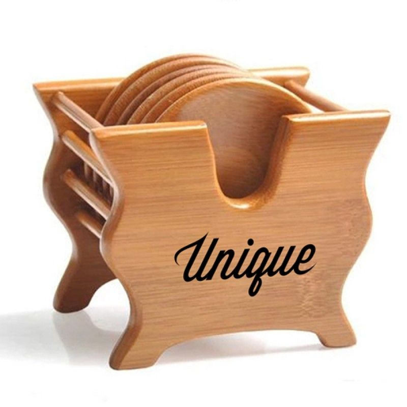 Wholesale Bamboo Tea Coasters With Holder