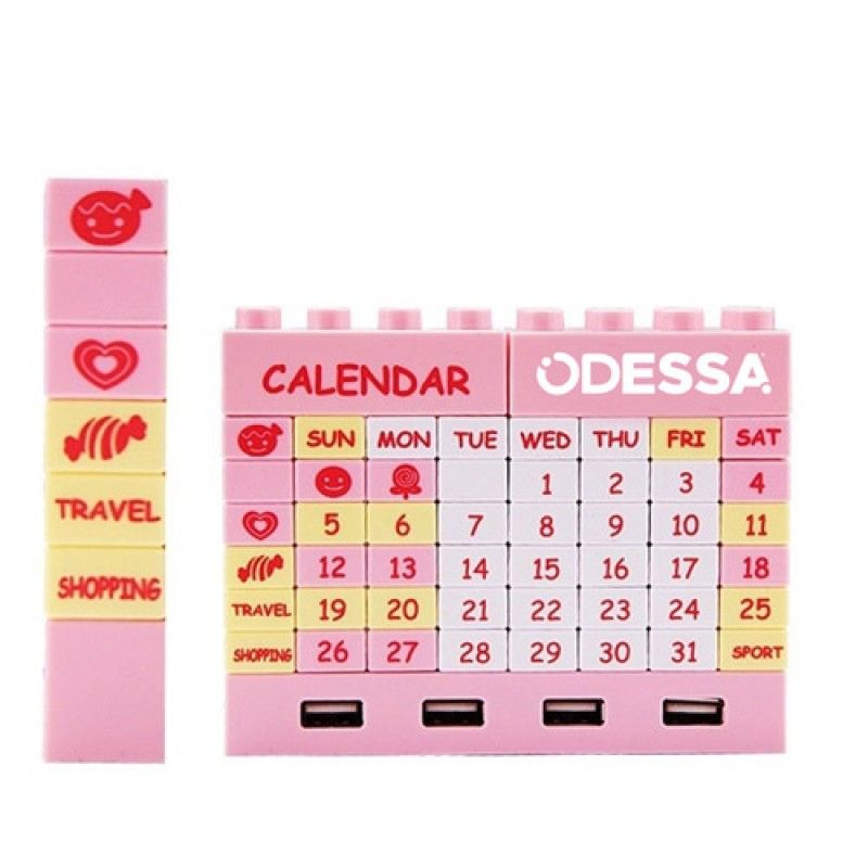 Wholesale 4 Ports Building Blocks USB Hub Puzzle Calendar