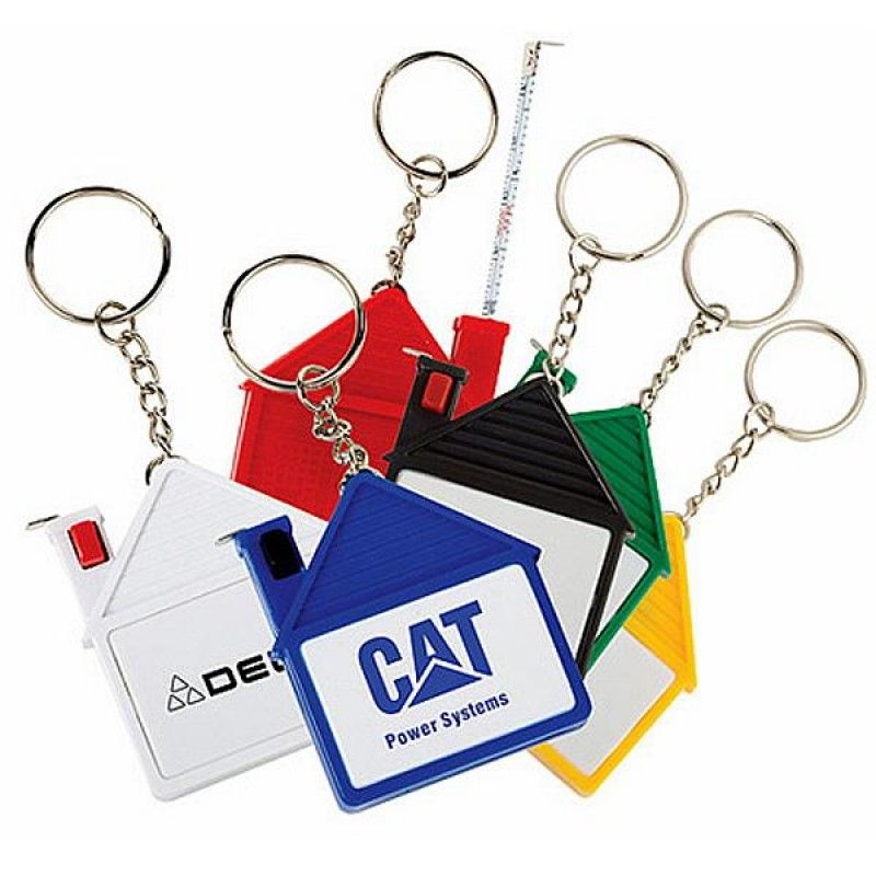 Wholesale House Tape Measure with Release Button and Key Chain-[TL-27155]