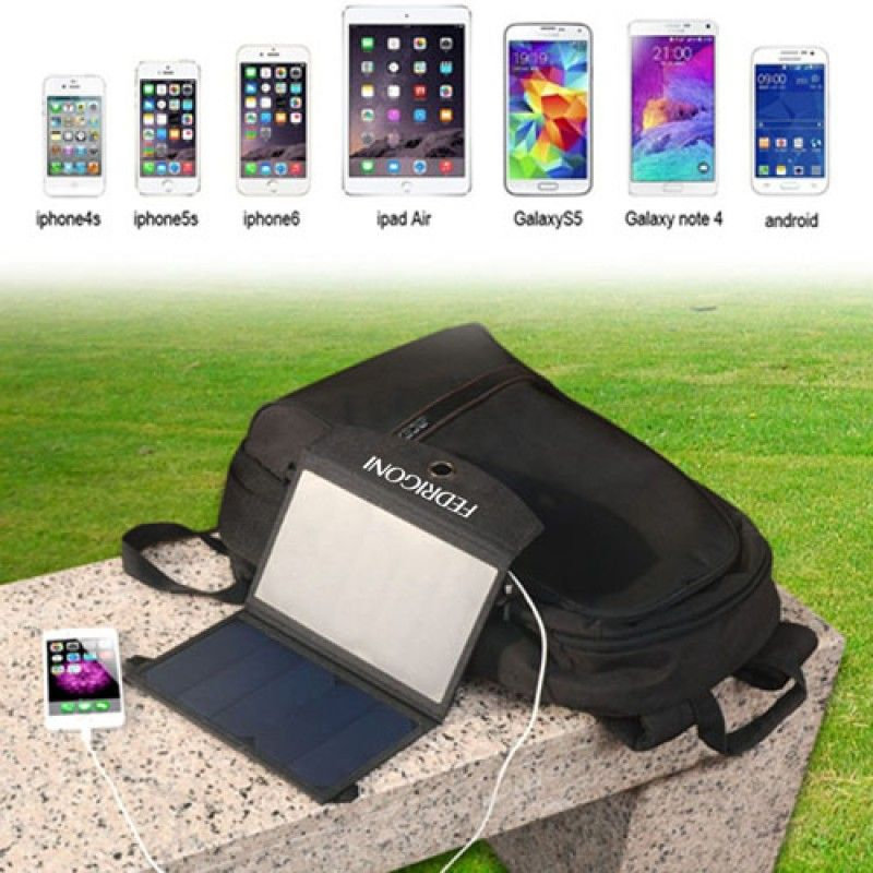 Wholesale 12W Dual USB Foldable Solar Charger
