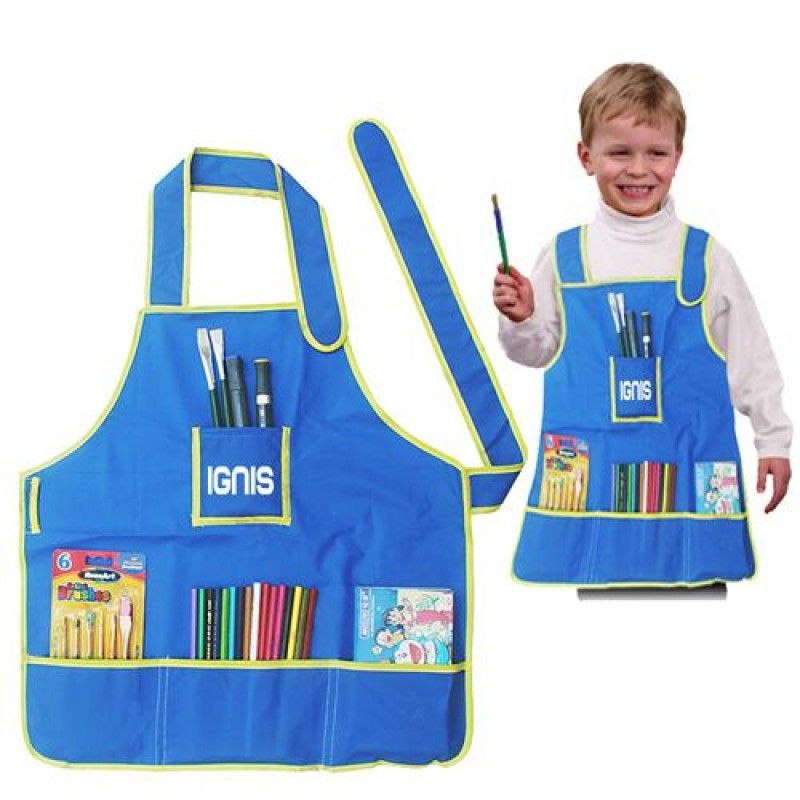 Wholesale Childrens Craft Apron With 4 Pockets