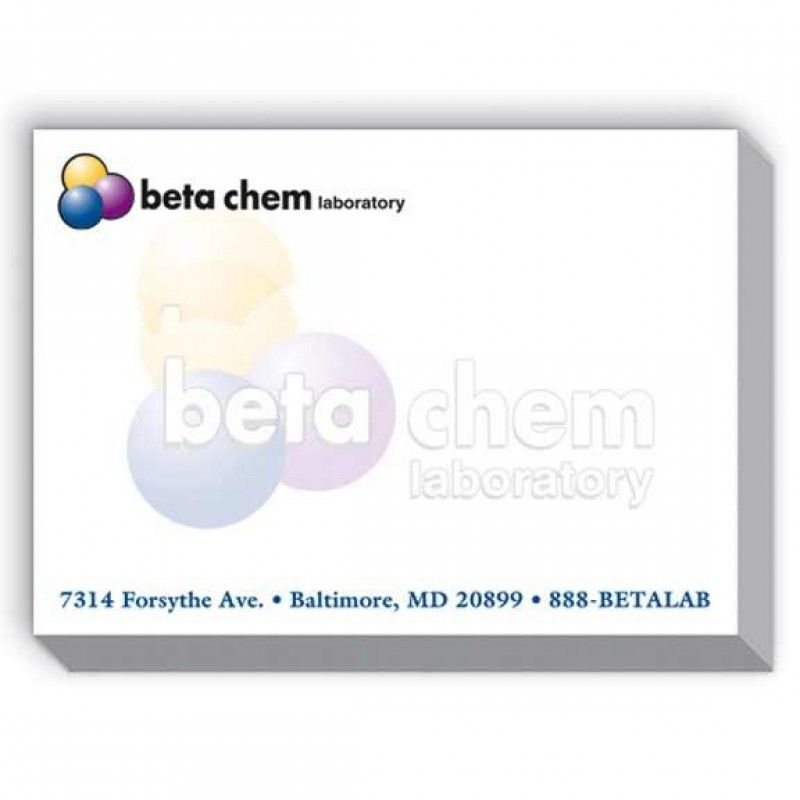 Wholesale 4x3 Adhesive Sticky Notepad - 25 Sheet -[SP-9001]
