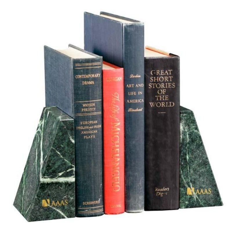 Wholesale Verde Marble Bookends-[NW-91959]