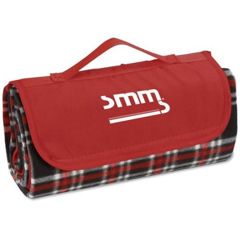 Wholesale Black Red Plaid Flap Roll Up Blanket