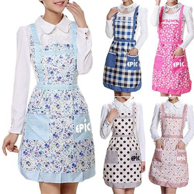 Wholesale Floral Pocket Women Apron