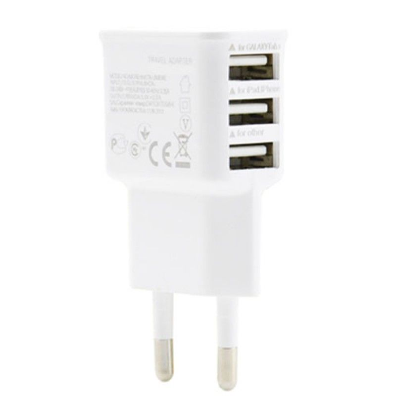 Wholesale 3 USB Ports EU Plug Wall Charger