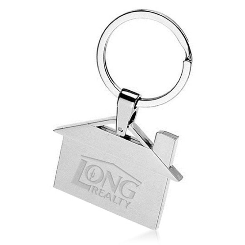 Wholesale House Shape Metal Key Ring