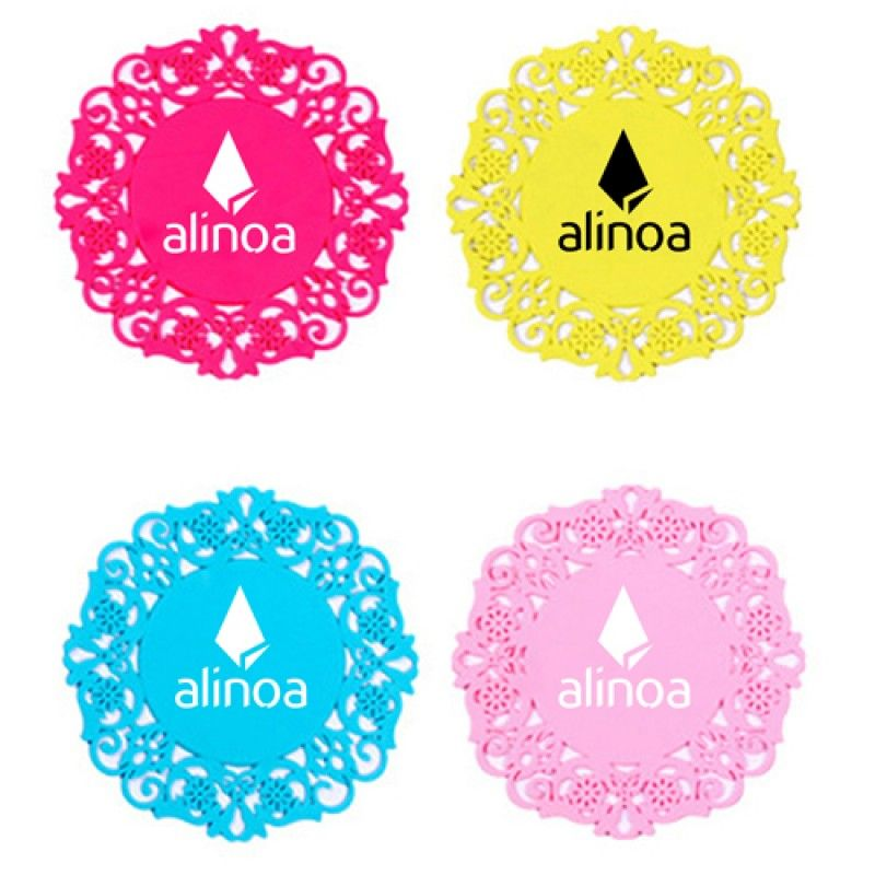 Wholesale Lace Silicone Coaster Insulation Pad