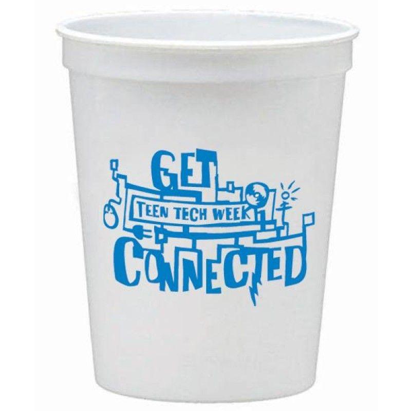Wholesale 16 oz. White Stadium Cup-[AA-27038]