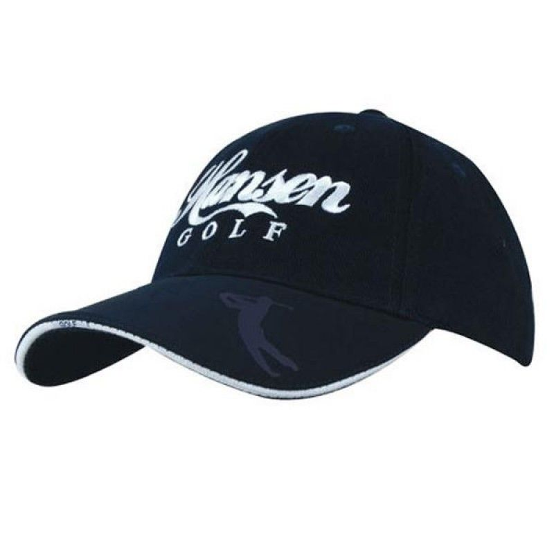 Wholesale Cotton Cap w/Embossed PU Visor-[HW-28014]