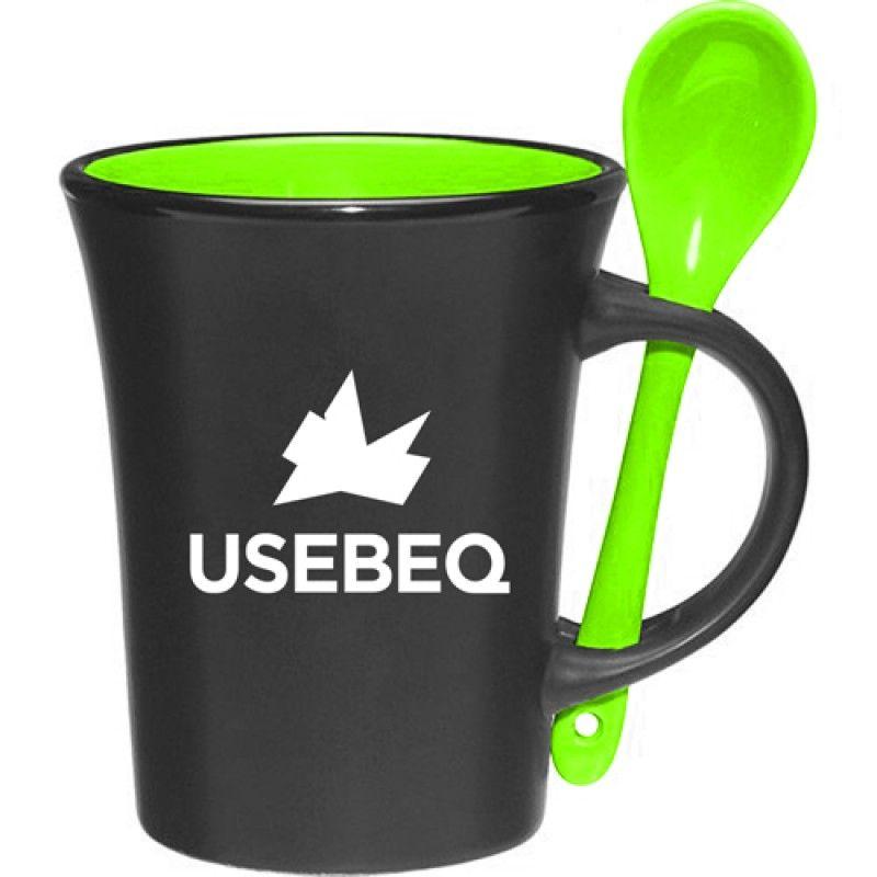 Wholesale C Shaped Handle Spooner Mug