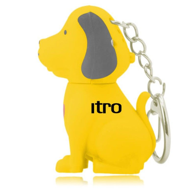 Wholesale Dog Sound Keychain With Light
