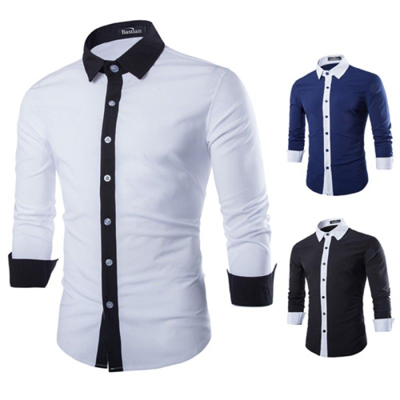 Wholesale Concise Fashion Mens Long Sleeve Shirt