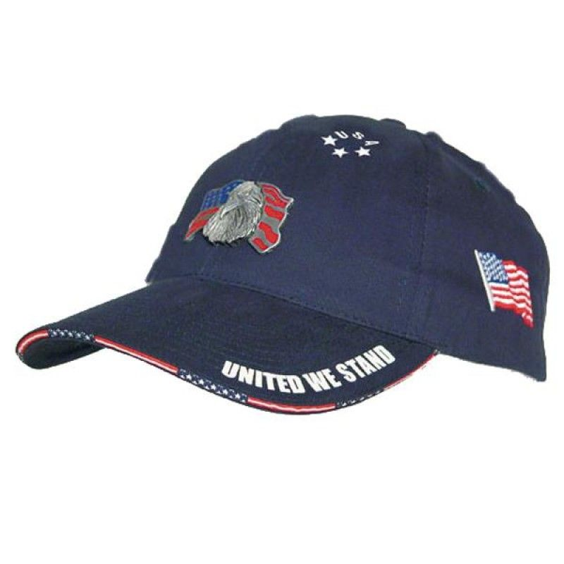 Wholesale Cotton Cap w/Woven Flag Sandwich-[HW-28009]