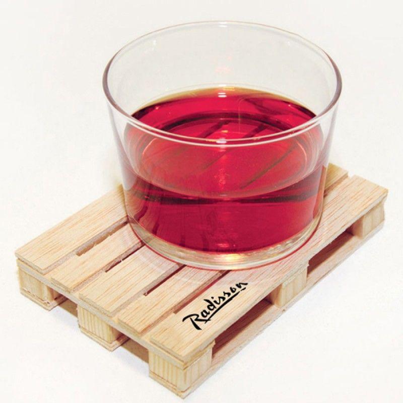 Wholesale Miniature Pallet Wood Coasters