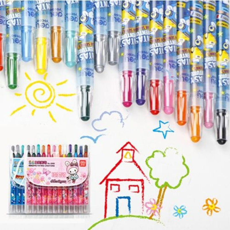 Wholesale Children Painting 24 Colors Creative Crayon
