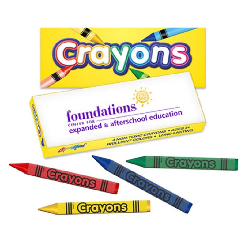 Wholesale 4 Pack Non-Toxic Color Crayons
