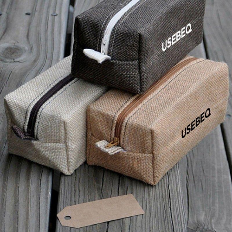 Wholesale Laminated Jute Cosmetic Bag