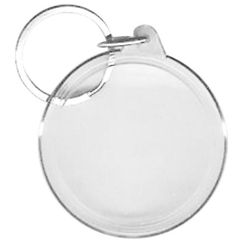 Wholesale BLANK - Snap-In Round Flat Key Tag-[BW-27075]