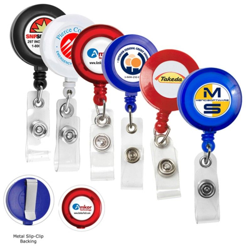Wholesale Round Retractable ID Card Badges Holder