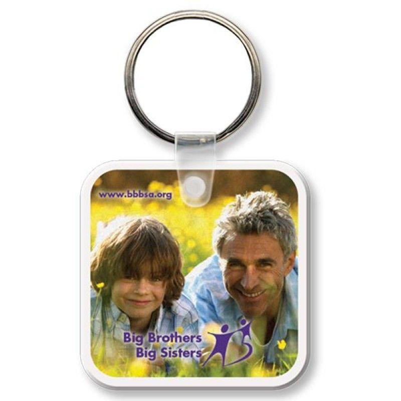 Wholesale Full Color Square Key Tag-[QK-25003]