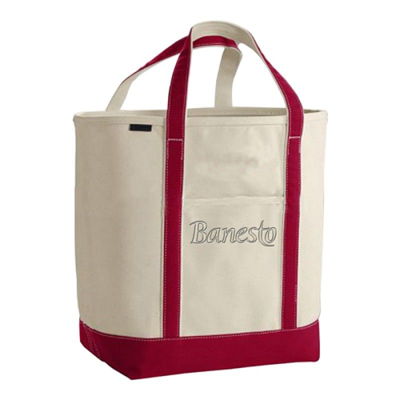 Wholesale Open Top Canvas Shopper Tote