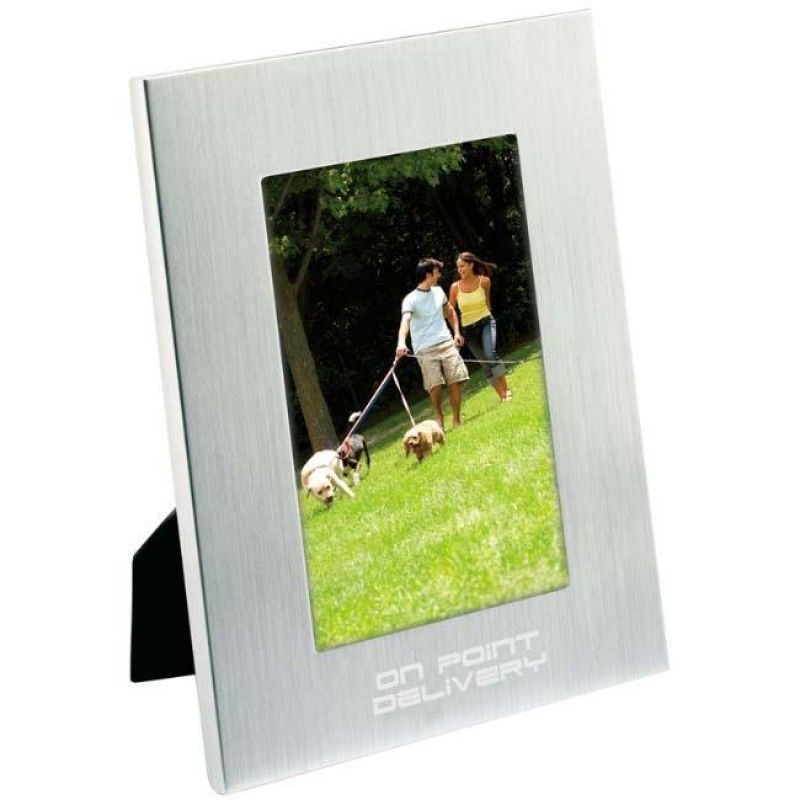 "Wholesale 4"" x 6"" Basic Brushed Aluminum Frame-[NW-92004]"