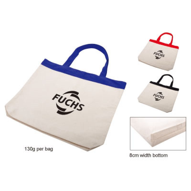 Wholesale Cotton Tote with Colour Trim