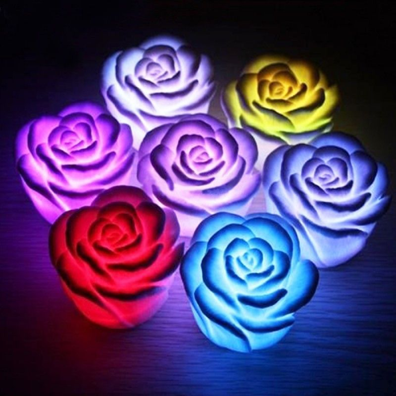 Wholesale 7 Color Changing Rose Mood Light
