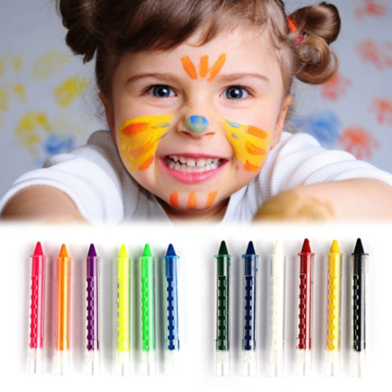 Wholesale Face Body Painting Kids Crayon Kit