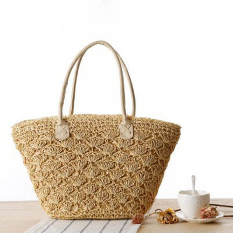 Wholesale Straw Shoulder Women Tote Bag