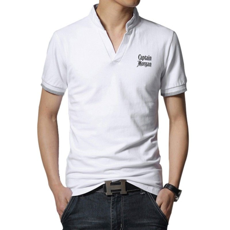 Wholesale Short Sleeve V Neck Casual Mens T Shirts