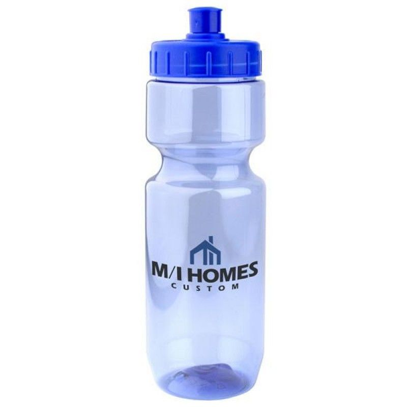 Wholesale 22 oz. Translucent Bottle with Push/Pull Lid-[CP-27004]