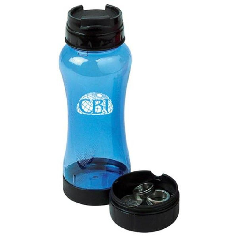 Wholesale 22oz Water Bottle with Secure Container-[DP-27951]